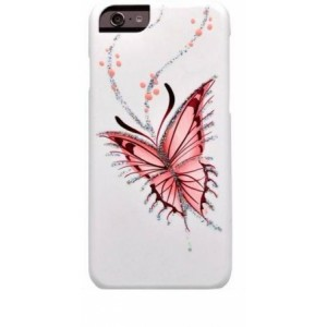 Накладка для iPhone 6 Plus iCover Hp Happy Butterfly, (IP6/5.5-HP/W-HB)