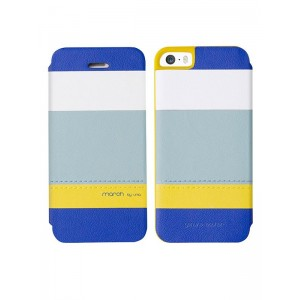 Кожаный чехол для iPhone 5/5S Uniq March Sea Breeze, (IP5SGAR-MARBLU)