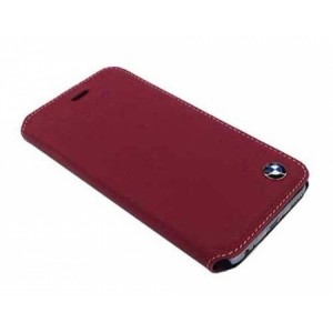 Кожаный чехол для iPhone 6 Plus / 6S Plus BMW Bicolor Booktype, цвет Red/Beige (BMFLBKP6LCLR)