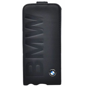 Чехол для iPhone 5/5S BMW Logo Signature Flip Black, (BMFLP5LOB)