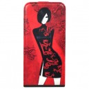 Кожаный чехол для HTC One Fonexion City Girls Flip Leather Red (CACIONEFLI01)