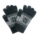 Перчатки Touch Gloves для iPhone, iPad (Dark Black, размер L)