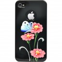 Накладка на заднюю крышку для iPhone 4 и iPhone 4S iCover Anemone цвет Black/Pink, (IP4-HP/BK-AM/P)