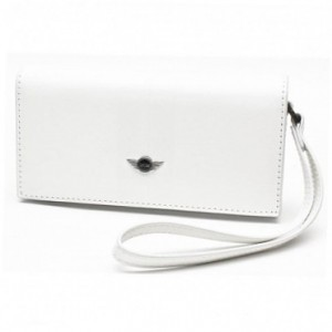 Чехол Mini для iPhone 4/4S Phone case PU Leather, White, (MNHOPUSTWH)
